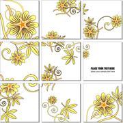 Vector illustration geometrical mosaic flower pattern Stock Illustration