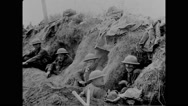Military soldiers relaxing in trench at Mexico-United States Border Stock Footage