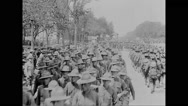 Military troops marching Stock Footage