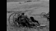 Military troops training on field Stock Footage