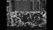 General John J Pershing saluting to crowd Stock Footage