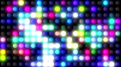 Disco LED Wall Stock Footage