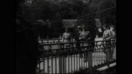 Marshal Ferdinand Foch walking with military officers Stock Footage