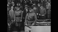 General John J Pershing saluting people Stock Footage