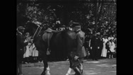 General John J Pershing tapping horse Stock Footage