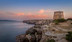 Formentera colorful sunset - stock photo