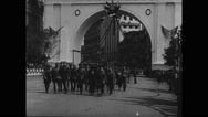 Military officers walking Stock Footage