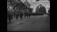 Military soldiers marching in parade Stock Footage