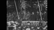 General John J Pershing saluting military soldiers Stock Footage