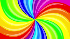 colorful background rainbow  that  rotating spiral. 2d animation. - stock footage