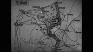 Animated map showing halting of German advance short of its goal at Calais Stock Footage