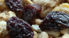 Musli With Raisins Stock Footage