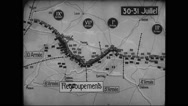 Animated map showing locations of battle of Champagne Stock Footage