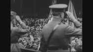 Ferdinand Foch saluting at the crowd Stock Footage