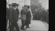 Ferdinand Foch entering car Stock Footage