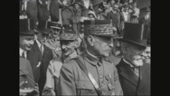 Ferdinand Foch talking to military officials Stock Footage