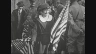 Girls greeting Ferdinand Foch Stock Footage