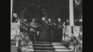 Ferdinand Foch receiving degree from Georgetown university Stock Footage