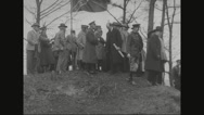 Ferdinand Foch greeting government officials Stock Footage