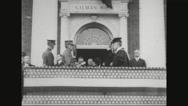 Ferdinand Foch receiving degree from Johns Hopkins University Stock Footage
