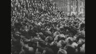 Crowd listening to Ferdinand Foch's speech Stock Footage