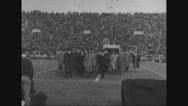 Ferdinand Foch arriving at football ground Stock Footage