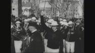Ferdinand Foch attending parades Stock Footage