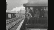 Ferdinand Foch travelling in train Stock Footage