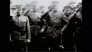 Military officers saluting in group Stock Footage
