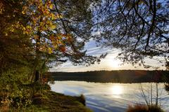 Hdr capture of a lake in bavaria in autumn Stock Photos