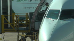 Loading catering and other airplane supplies Stock Footage