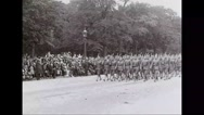 Military soldiers marching in Paris, France Stock Footage
