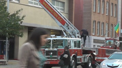 Washington DC Fire Engine Stock Footage