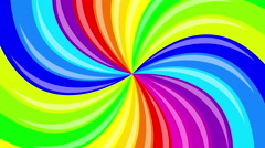 Colorful background rainbow  that  rotating spiral. 4k animation. Stock Footage