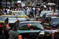 Tokyo traffic Stock Photos