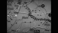 Animated map showing distribution of the German and allied armies Stock Footage