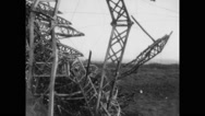 Remains of crashed USS Shenandoah airship Stock Footage