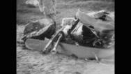 Remains of crashed USS Shenandoah airship Stock Footage