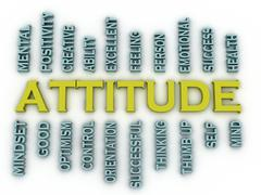 3d imagen attitude  issues concept word cloud background - stock illustration
