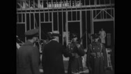 James William Good inspecting military soldiers Stock Footage