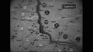 Animated map showing locations of battle of Picardy Stock Footage