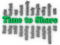3d imagen time to share issues concept word cloud background Stock Illustration