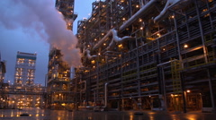Oil factory Stock Footage