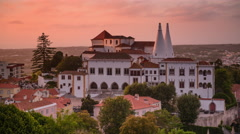 Sintra National Palace in Portugal Stock Footage