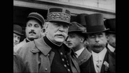 Marshal Joseph Joffre speaking to city officials at Battery Park Stock Footage