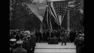 Marshal Joseph Joffre unveiling Lafayette Memorial in Brooklyn Stock Footage