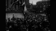 Marshal Joseph Joffre arrives at Columbia University Stock Footage