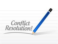 conflict resolution message illustration - stock illustration