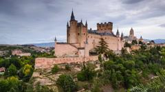 Segovia, Spain Medieval Town Stock Footage