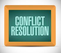 conflict resolution sign message illustration - stock illustration